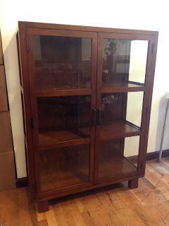 Mahogany bookcase/curio cabinet