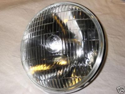 "Buy LUCAS 700 headlight glass lens 7"" Triumph Norton with pilot BSA Matchless light motorcycle in Canyon Country, California, US, for US $59.00"