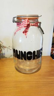 Gallon glass munchie jar