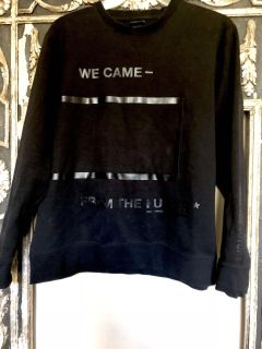 H&M XL Black Sweatshirt We Came From The Future