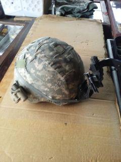 Military KEVLAR Helmet w/ SUREFIRE LITE & NVG MOUNTS