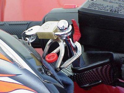 Purchase HANDLEBAR HELMET LOCK for Honda Kawasaki Suzuki motorcycle in Laguna Hills, California, US, for US $14.95