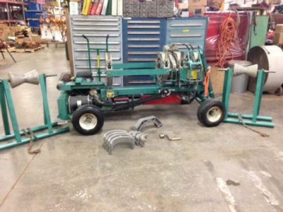$4,000, McElroy 412 Pipe Fusion Machine Kohler 18hp with Heater Stands and Inserts