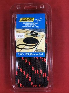 """Sell DOCK LINE MFP 3/8"""" x 15' BLACK RED FLOATING POLYPROPYLENE ROPE SEACHOICE 42431 motorcycle in Merritt Island, Florida, United States, for US $13.95"""