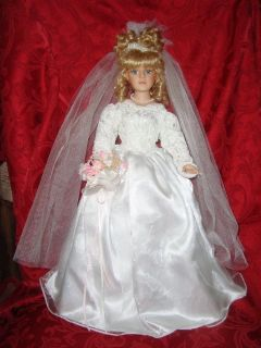 21 inch BRIDE DOLL Collector Choice Limited Edition By Donnatella De Roma Blonde Bisque Porcelai...