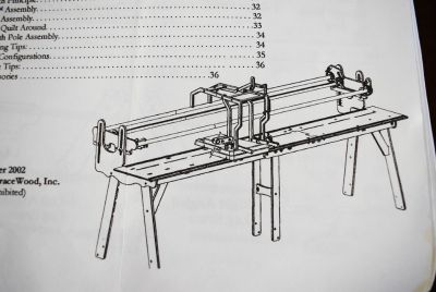 Grace Machine Quilter - Longarm Twin to Queen - Frame is Wood