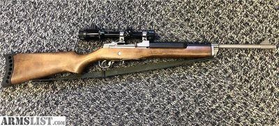 For Sale: Good Ruger Mini-30 Ranch Rifle Wood Stainless 7.62x39
