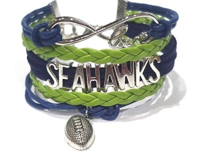 SEATTLE SEAHAWKS Infinity Charm Bracelet *** NEW ***