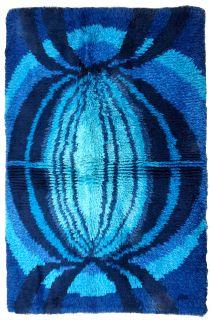 Handmade vintage Swedish Rya rug, 1B600