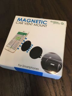 Magnetic cell phone car vent mount