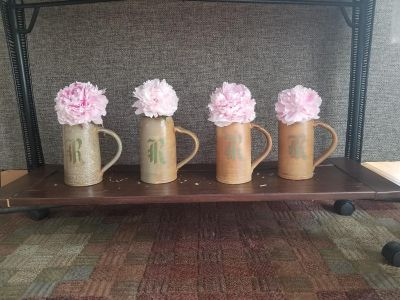 4 Pottery beer stein