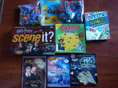 Boys construction and board games lot