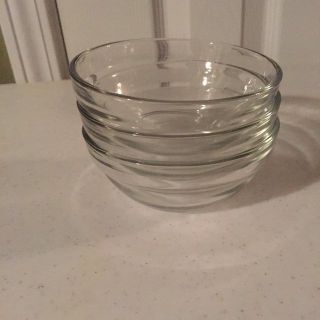 3 Glass 6-oz. Prep/Condiment Bowls