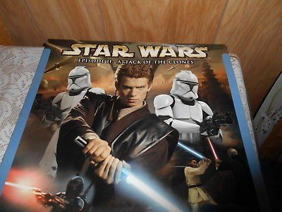 Star Wars 2002-2003 18 month Calendar The Art of Episode II The Attack of the Clones Opened but ...