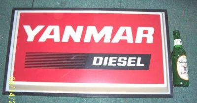 Buy YANMAR lighted sign, one sided, just hang on the wall & plug in. Looks great !! motorcycle in Plainville, Connecticut, United States, for US $139.00