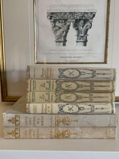 Set of 6 Old French Books