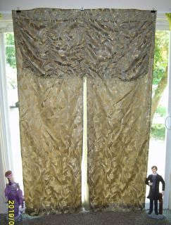 "3 Panels of Sage All-In-One Curtain Sets - 54"" X 84"" Price is for all 3"