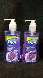 2 dial hand soaps lavender and jasmine