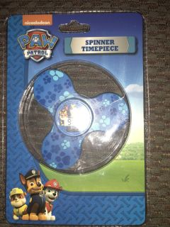 New..Paw patrol spinner with clock $5 POMS