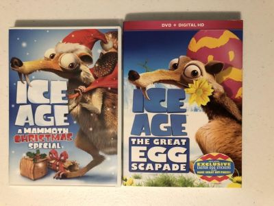 Ice Age Christmas & Easter DVDs