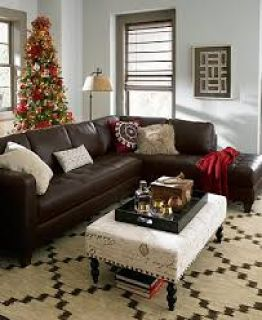 Milano Leather 2-Piece Chaise Sectional Sofa ~ Furniture Now
