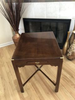 Vintage Mahogany Campaign Style Bedside or Side Table