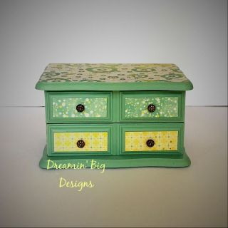 Restful Hand Painted Wood Jewelry Box