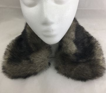 "Faux Mink Fur Fashion Collar Lined in Satin 21"" Long"