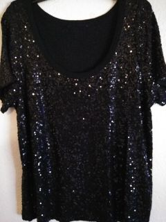 Black Sequin Tee