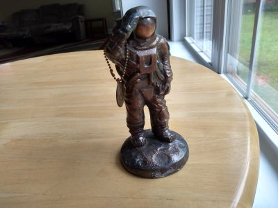 """Neil Armstrong copper statue measures 7 1/2"""" tall"""