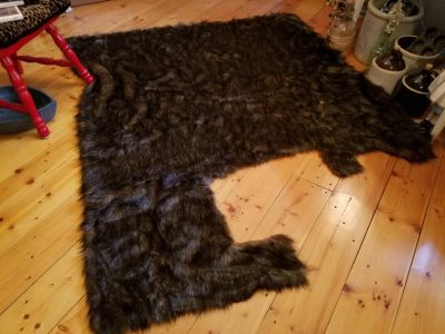 Faux Fur Costume Fabric - Wolf Brown