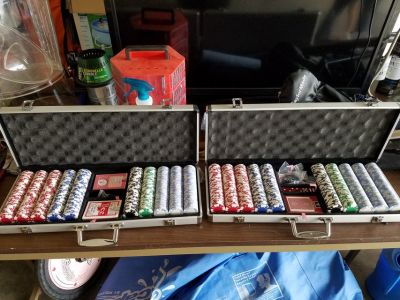 2 FULL SETS!!! Clay Poker Chips