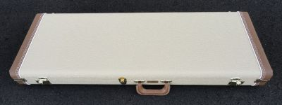 Fender Stratocaster/Telecaster Case - Blond W/ Antique Gold Poodle Interior - BRAND NEW