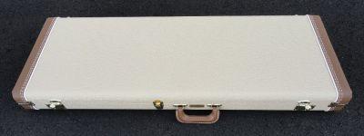 Fender Stratocaster/Telecaster Case - Blond W/ Antique Gold Poodle Interior - BRAND NEW