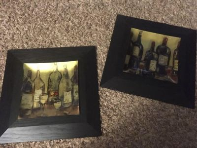 2 wine pictured. Domaine staging 17 x17