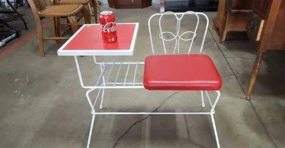 Cute Wrought Iron Chair And Side Table - Delivery Available