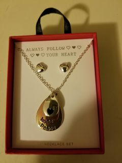 """Always follow your heart 18"""" necklace set"""