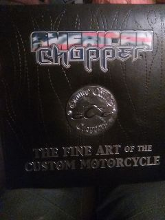 American chopper 2005 leather coffee table book