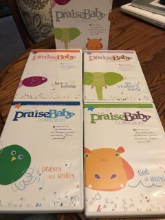 The Praise Baby 4 DVD Gift Collection. Sleepytime Lullabies CD's and Worship music and fun interactive video
