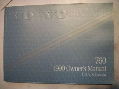 Find 1990 Volvo 760 Owner's Manual. Good Cond. Clear no owner info. motorcycle in Perris, California, United States, for US $17.50