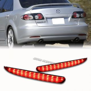 Buy Red Lens LED Rear Bumper Reflector Brake Light Lamps For 2003-2008 Mazda 6 motorcycle in Rowland Heights, California, United States