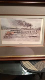 Framed Delta Queen print #32 of 200. By Bill Brown