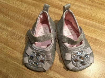 Cute glitter and jeweled ballet flats