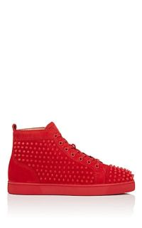 Christian Louboutin Men's Red Bottom All Red with Spikes