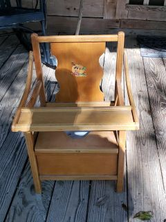 Vintage 60s and 70s Potty chair