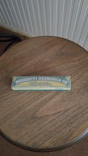 Harmonica, Mississippi Harmonica Co., bought on vacation for grandson, but he wasn't even interested. New in box, 6 in