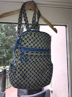 Vera Bradley small blue and yellow backpack EUC