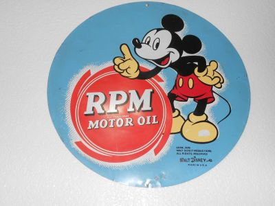 Original 1939 Mickey Mouse RPM sign