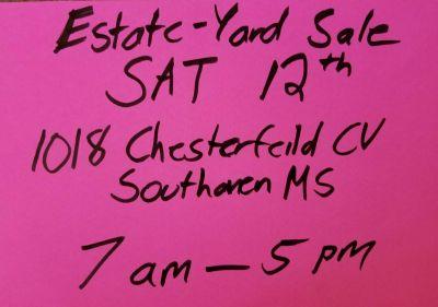 Estate Yard Garage Sale EVERYTHING MUST GO! Sat Jan 12th