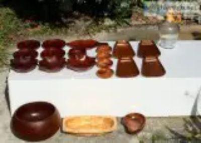 Rare Exotic Wood Bowls Taverneau Avodire Cobobola Teak Mahogany